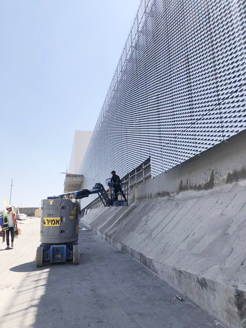 The Expanded Metal for Building Facade in Israel