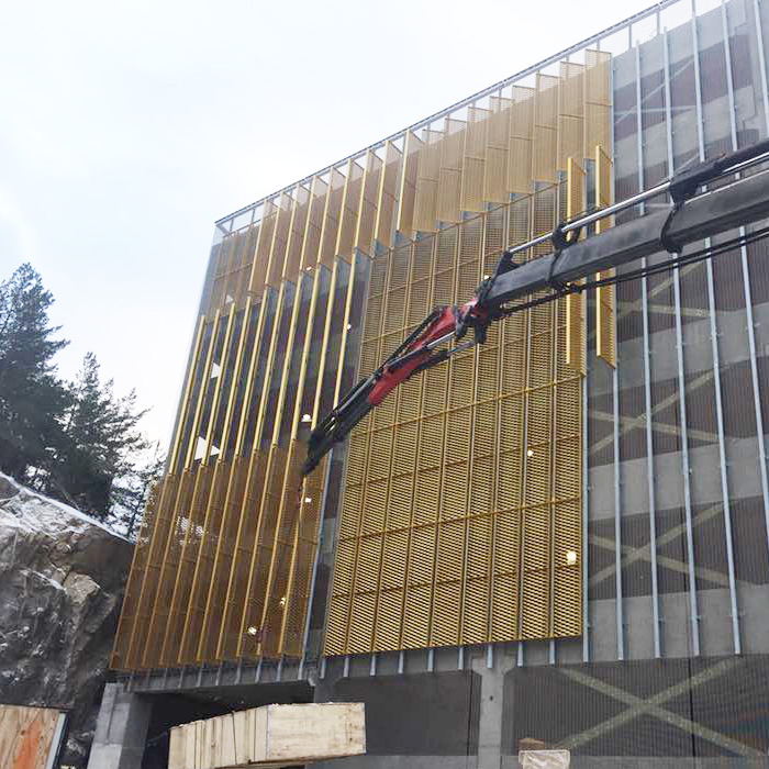 Aluminum Expanded Metal for 5 Stars Westin Hotel in Sweden