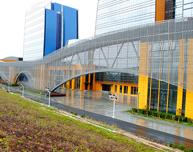 Aluminum expanded metal panel for Youth Palace curtain wall